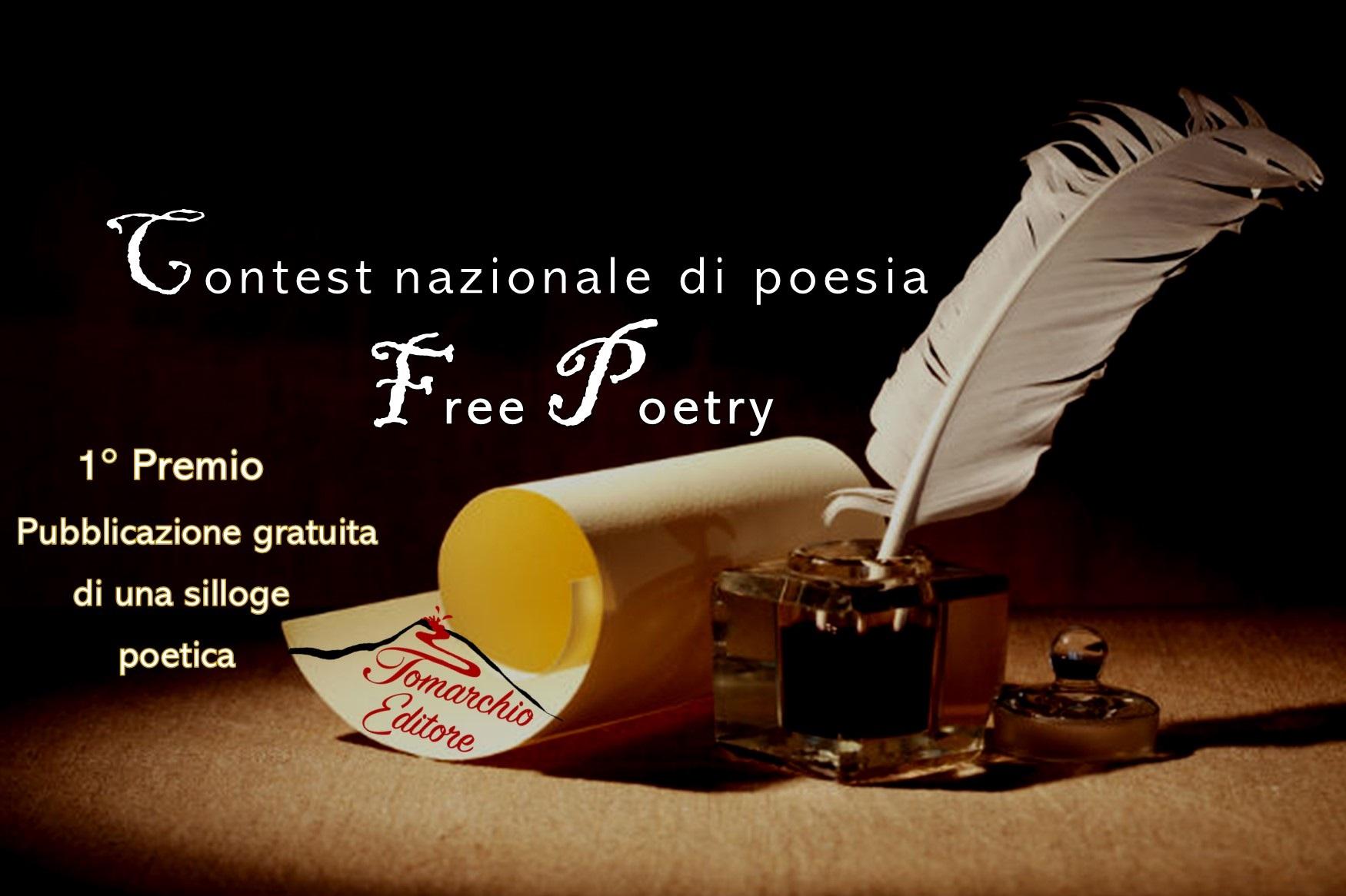 Contest nazionale di poesia Free Poetry – partecipazione gratuita