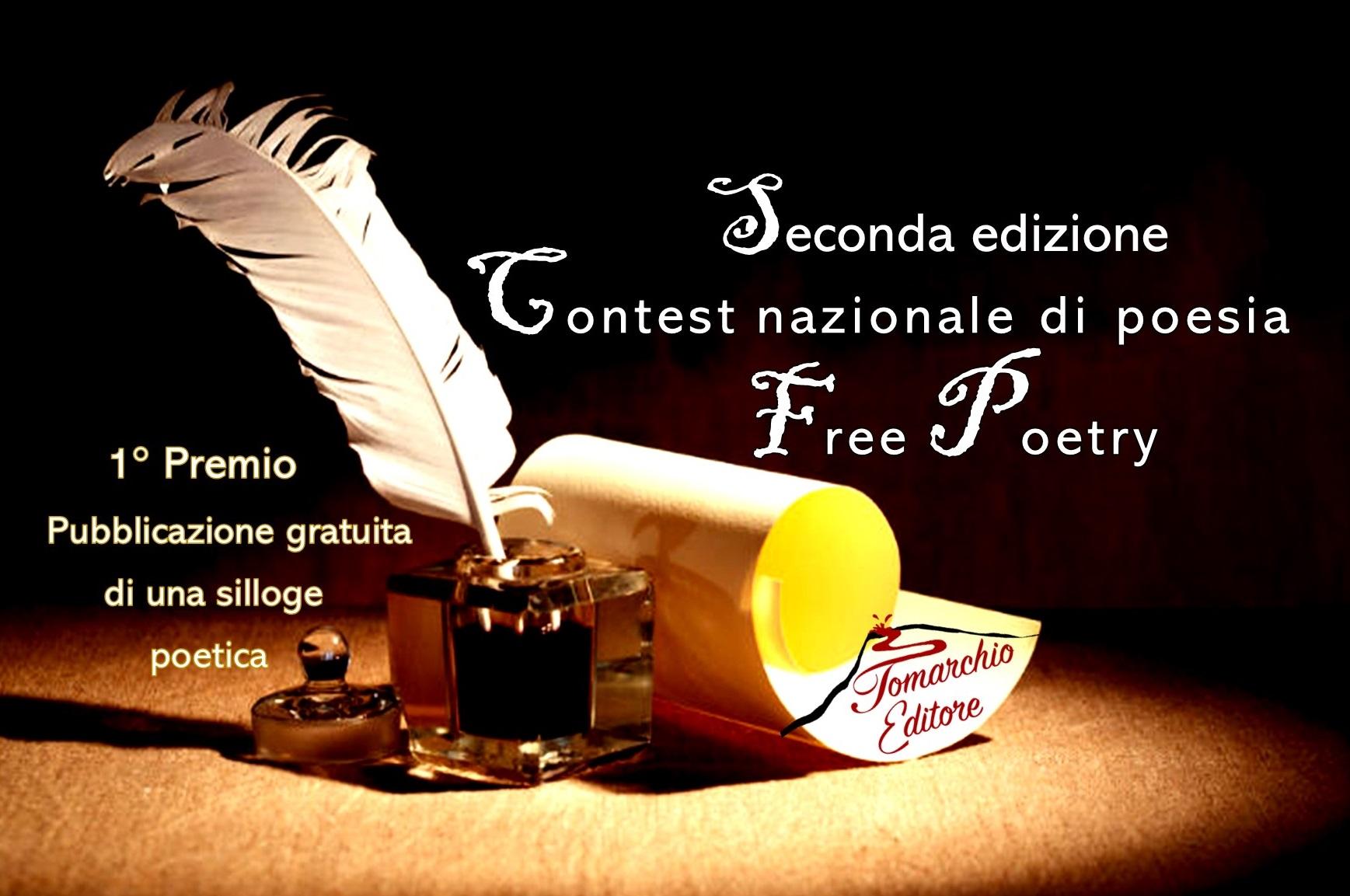 Seconda edizione del Contest nazionale di poesia Free Poetry – partecipazione gratuita